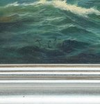 Stunning Seascape Schooner Sail Boat Oil Canvas Painting