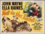 Tall in the Saddle Vintage Western Movie Poster Half John Wayne