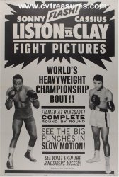 Cassius Clay (Muhammad Ali) vs Sonny Liston Boxing Poster 1964