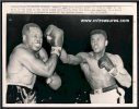 Muhammad Ali CASSIUS CLAY Decks ARCHIE MOORE wire photo 1962 N1X