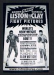 Muhammad Ali (Cassius Clay) vs Sonny Liston Fight Poster 1965