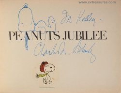 Charles Schulz Signed Autographed Book Sketch Drawing Snoopy