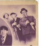 Three Stooges Spook Louder vintage Title Card movie poster 1943