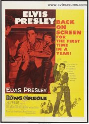 King Creole Vintage Movie Poster One Sheet Elvis Presley