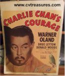 Charlie Chan's Courage Vintage Movie Poster Window Card 1934