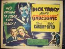 Dick Tracy Meets Gruesome, 1947 Boris Karloff Half Sheet