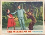 Wizard of OZ lobby card vintage movie poster 1955 Garland Haley