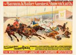 Circus Poster Barnum and Bailey Vintage Horses Chariots 1895