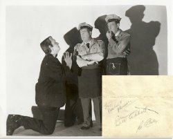 Abbott & Costello in person autographs 1947
