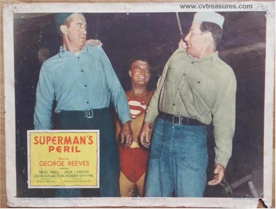 Superman's Peril Vintage Movie Poster Lobby Card 1954 - Click Image to Close
