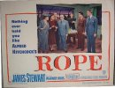 Alfred Hitchcock's Rope James Stewart, 1948 lobby card group