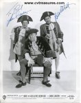 Abbott & Costello Rare Autographed Signed photo in Character