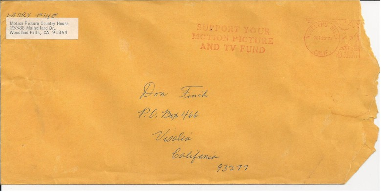 "Larry Fine Three Stooges letter and rare book ""Stroke of Luck"" - Click Image to Close"