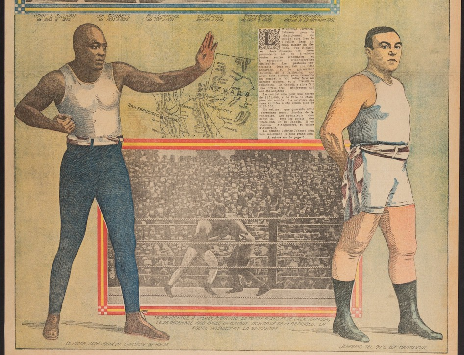 Jack Johnson Jim Jeffries RARE Boxing Pre-Fight French Newspaper - Click Image to Close