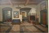 "Martoft ""Rustic Interior"" Oil Painting Early 20th Century"