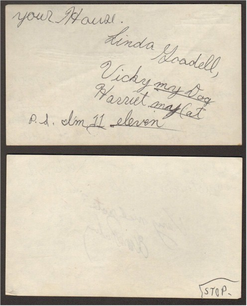 Elvis Presley Autograph Vintage note from 11 Year Old Girl - Click Image to Close