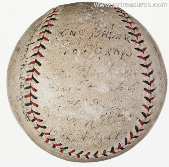Providence Grays Autographed Signed Baseball 1928 Babe Ruth 1st - Click Image to Close
