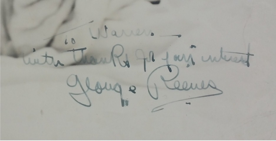 George Reeves Autograph Signature Pristine Vintage - Click Image to Close