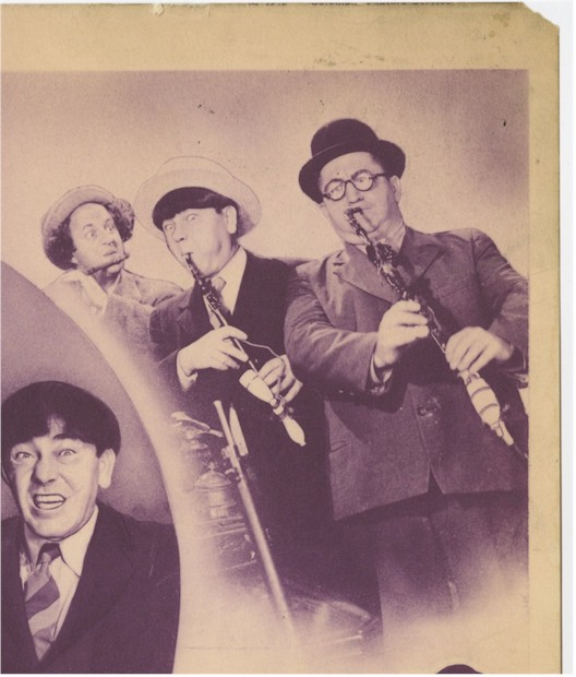 Three Stooges Spook Louder vintage Title Card movie poster 1943 - Click Image to Close