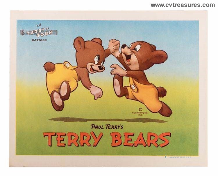 Terry-Toons, Mighty Mouse Original Vintage Four Lobby Cards - Click Image to Close