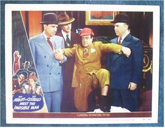 Abbott & Costello Meet Invisible Man Lobby Card - 1951 - Click Image to Close